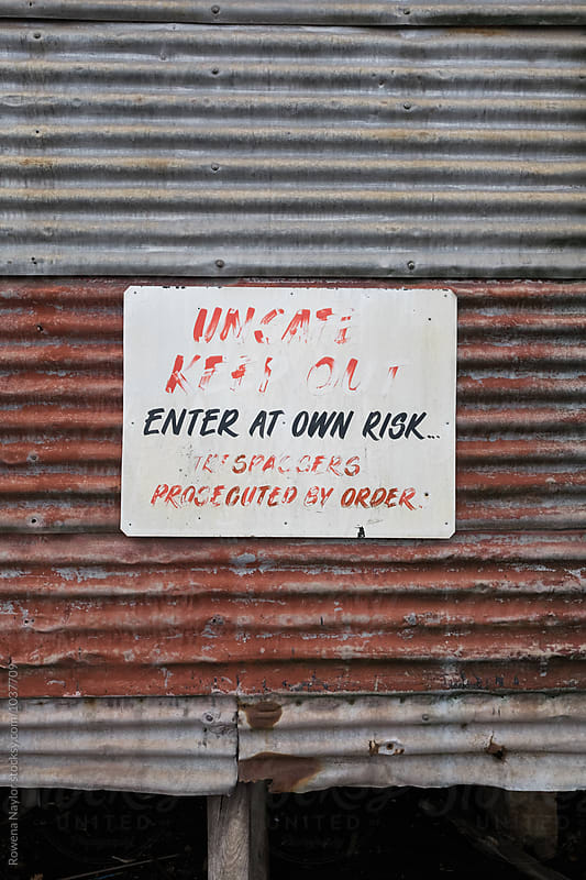Enter at Own Risk by Rowena Naylor for Stocksy United