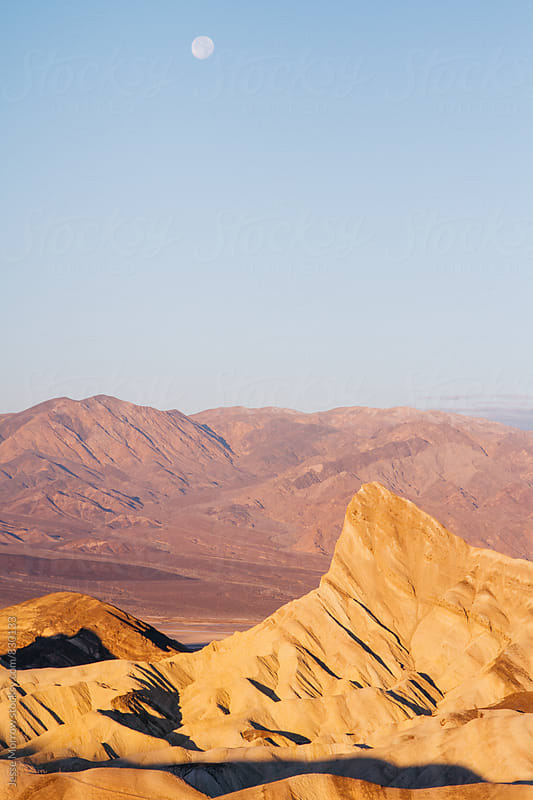 unique mountain landscape at death valley usa sunrise by Jesse Morrow for Stocksy United