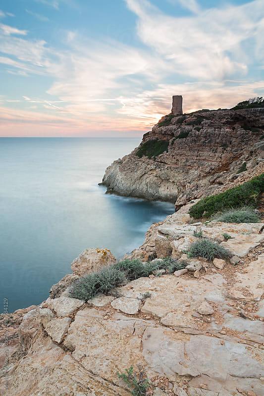 Old watchtower on the Mediterranean coast by Marilar Irastorza for Stocksy United