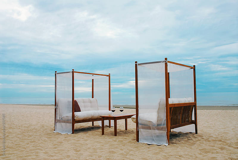 Beach canopy bed by jira Saki for Stocksy United