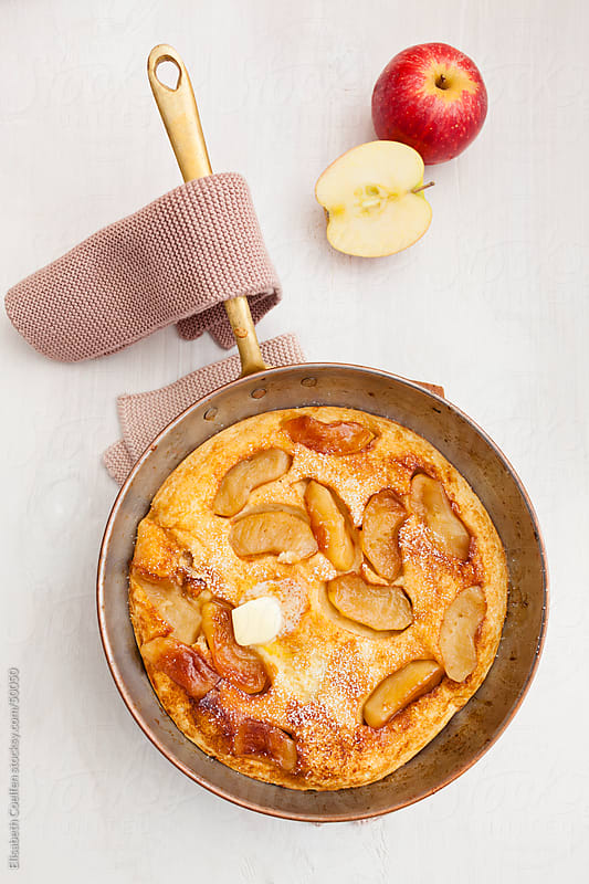 German upside down apple pancake tatine style by Elisabeth Coelfen for Stocksy United