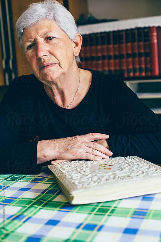 Portrait of elderly woman by michela ravasio for Stocksy United
