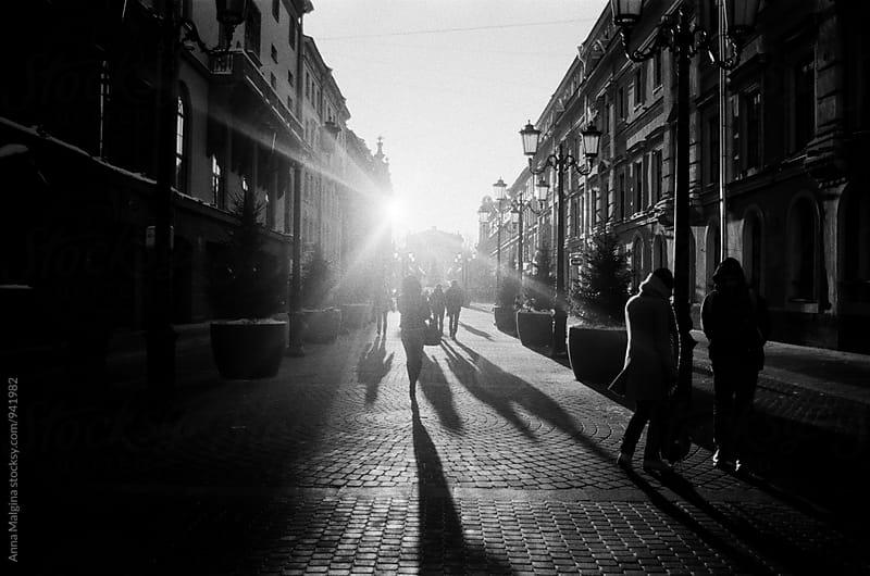 A film photo od a sunny street by Anna Malgina for Stocksy United