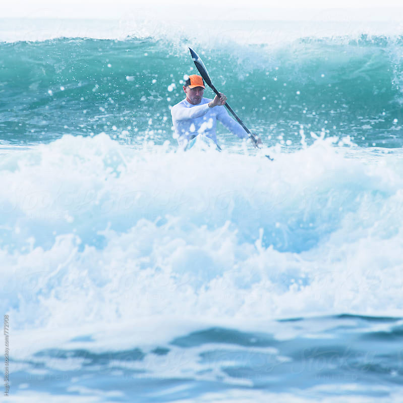 Surf Ski Paddler. by Hugh Sitton for Stocksy United