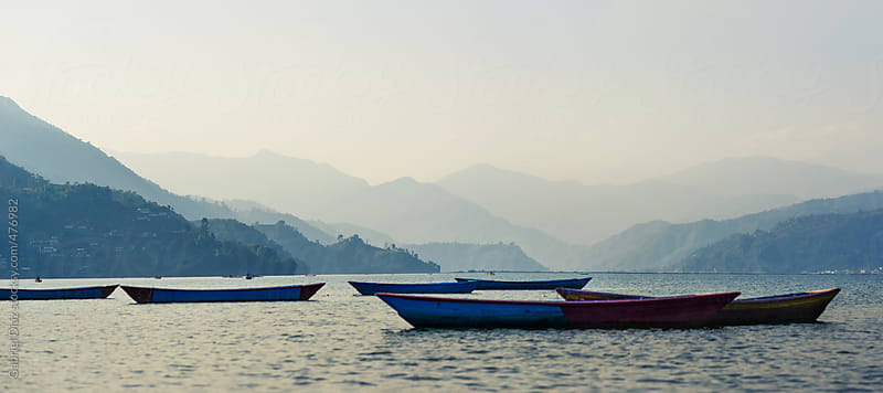 the landscape of the lake in pokhara,nepal by Gabriel Diaz for Stocksy United
