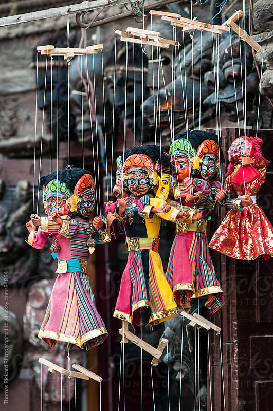 Puppet's for sale, Durbar Square, Kathmandu, Nepal. by Thomas Pickard Photography Ltd. for Stocksy United