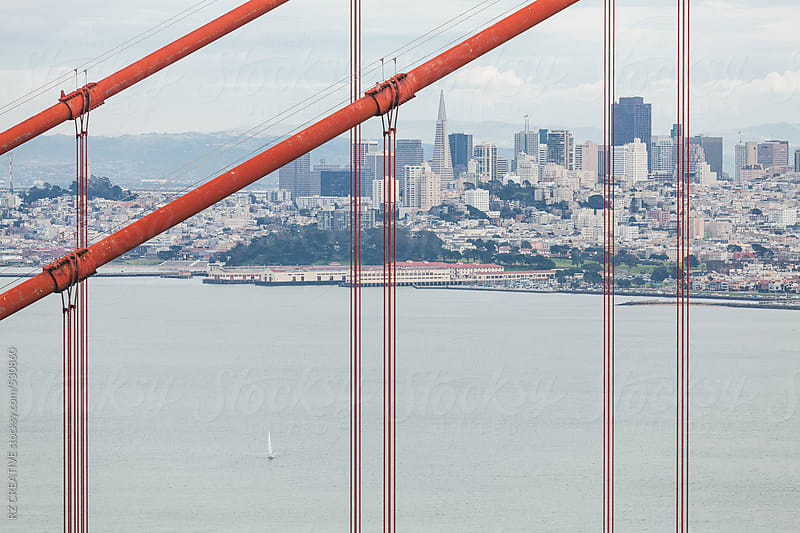 San Francisco's famous Golden Gate Bridge. by RZ CREATIVE for Stocksy United