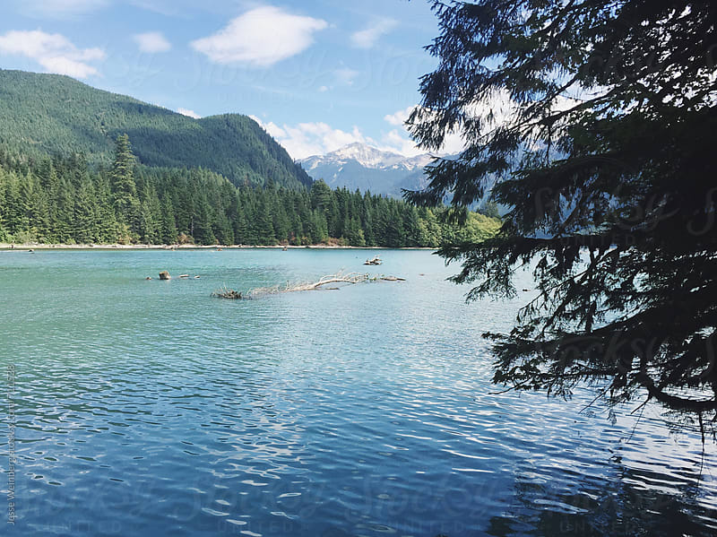 Alpine Lake View by Jesse Weinberg for Stocksy United