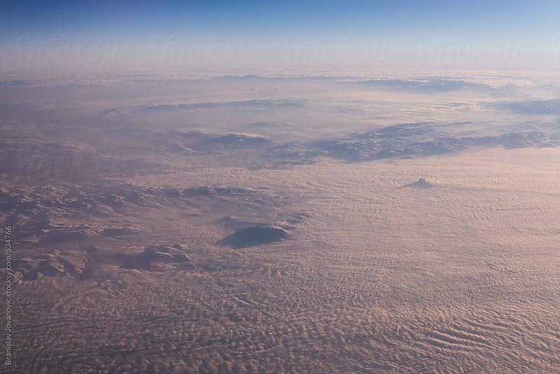Aerial view of the mountain range by Branislav Jovanović for Stocksy United