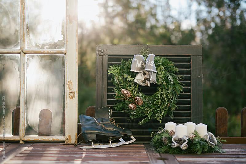Holiday wreaths by Török-Bognár Renáta for Stocksy United