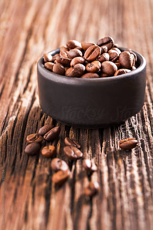 Fresh coffee beans  by Corinna Gissemann for Stocksy United
