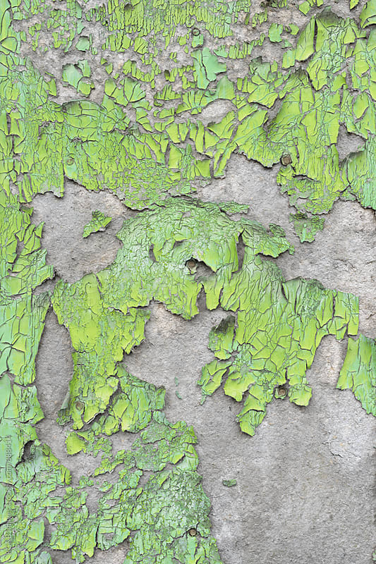Cracked green paint  by RG&B Images for Stocksy United