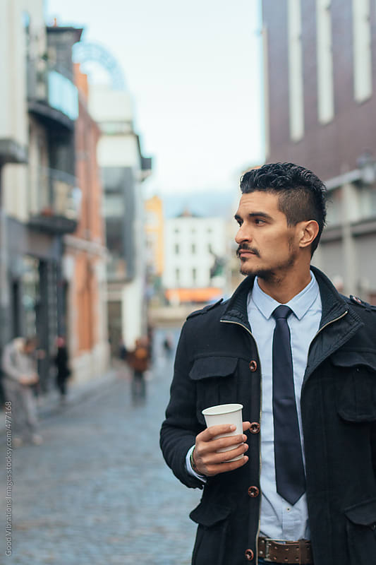 Portrait of a businessman in the city by Good Vibrations Images for Stocksy United