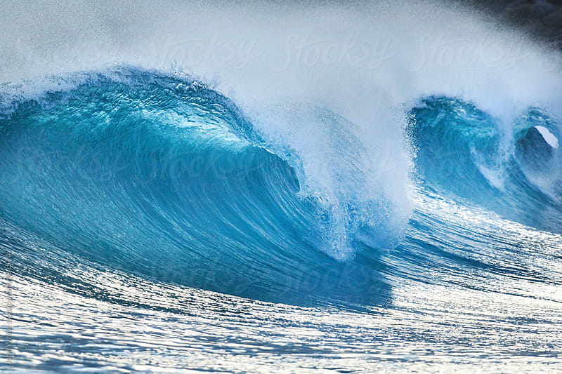 Wave breaking at Native Dog Bay. Western Australia. by John White for Stocksy United