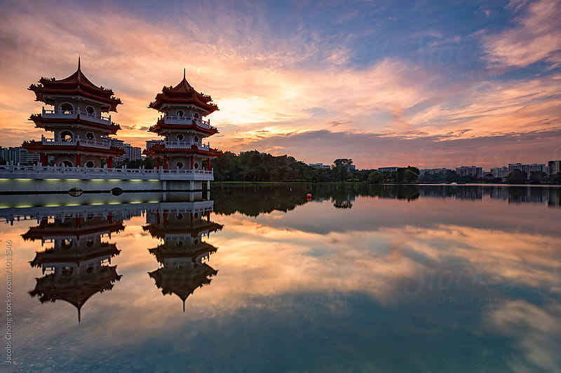 Twin Pagoda by Jacobs Chong for Stocksy United