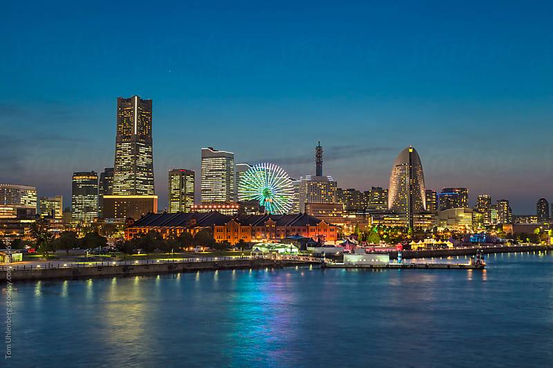 Yokohama, Japan - City Skyline at Night by Tom Uhlenberg for Stocksy United