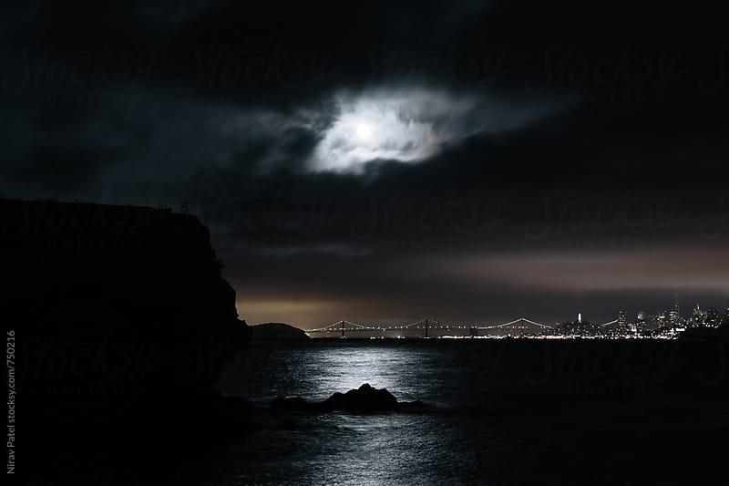 Moon rise. by Nirav Patel for Stocksy United