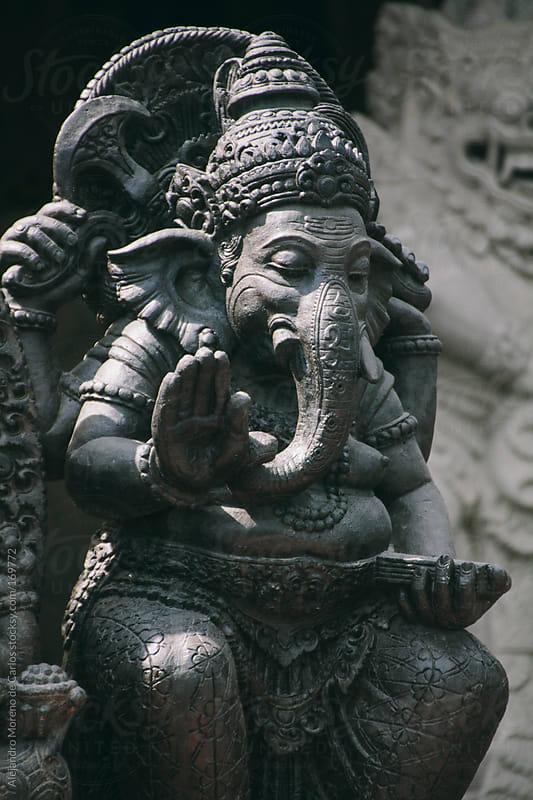 Ganesh god statue on temple, Bali, Indonesia, Asia by Alejandro Moreno de Carlos for Stocksy United