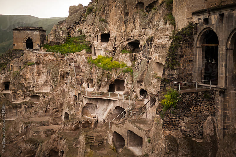 Cave Monastery by Milles Studio for Stocksy United