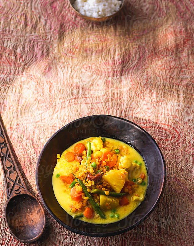 Indian vegetable curry by J.R. PHOTOGRAPHY for Stocksy United