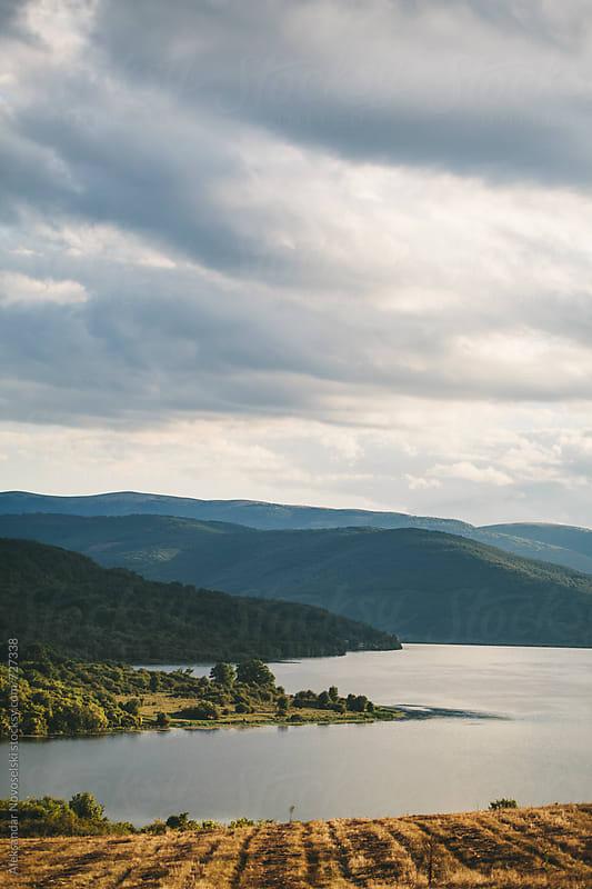 Beautiful landscape on a cloudy day in the mountain by Aleksandar Novoselski for Stocksy United
