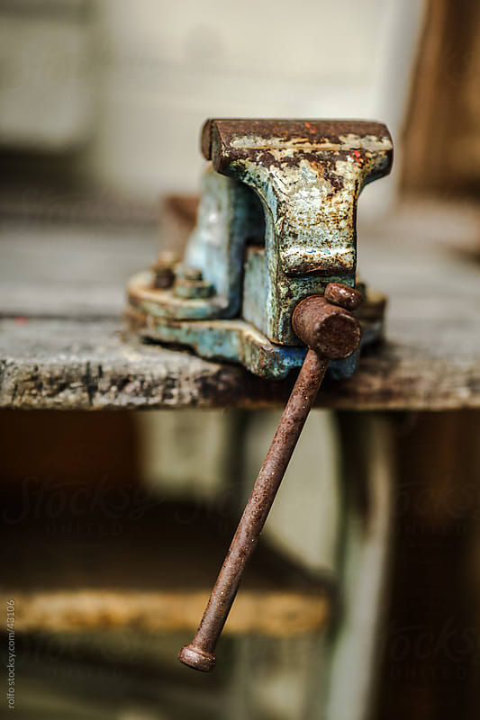 bench vise old by rolfo for Stocksy United