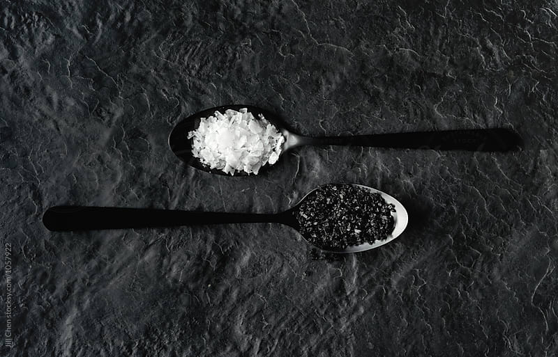 Black and white salt by Jill Chen for Stocksy United