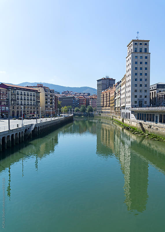 Nervion river in Bilbao by ACALU Studio for Stocksy United