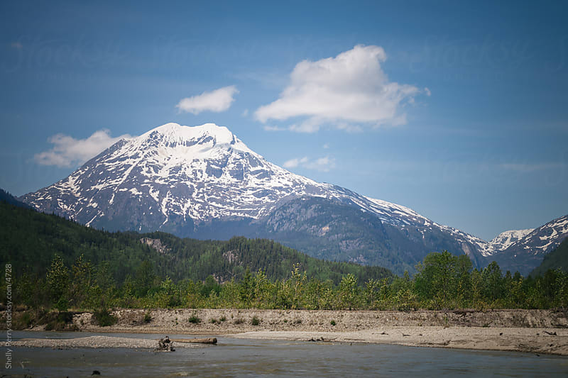 Summer in the rugged landscape of the far outback of Alaska by Shelly Perry for Stocksy United