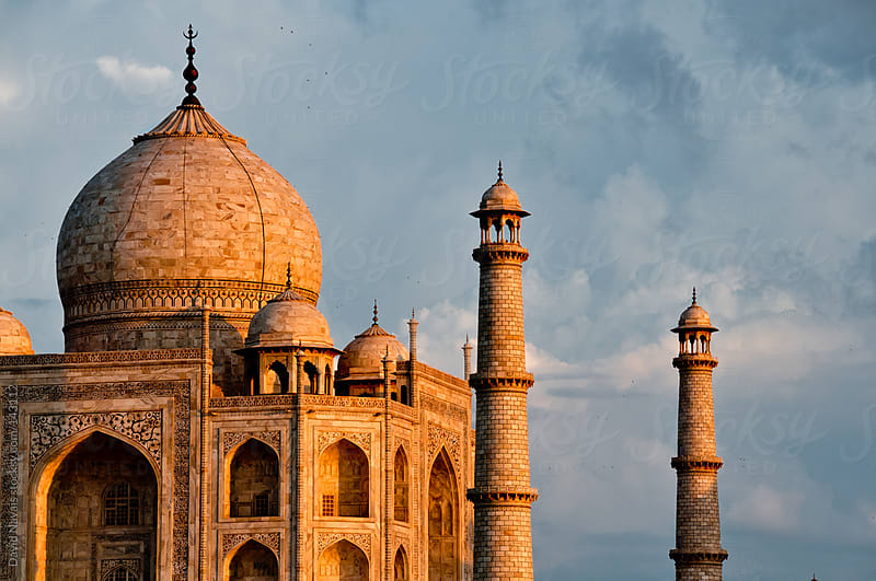 Taj Mahal detail by David Navais for Stocksy United