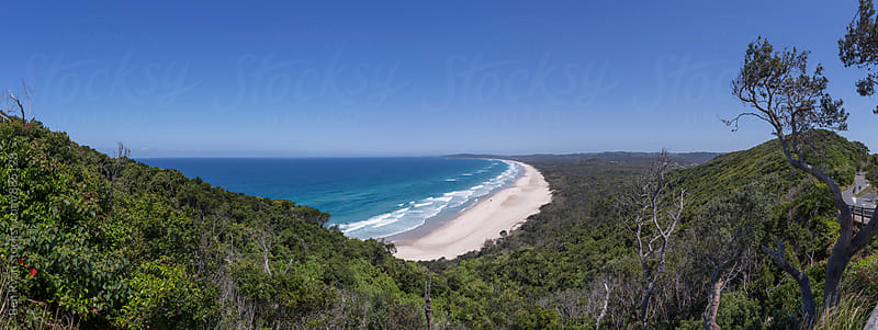 Panorama of remote beach in Australia by Ben Ryan for Stocksy United