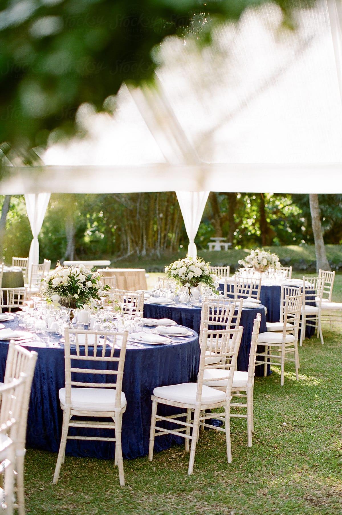 Elegant outdoor wedding reception by Seth Mourra - Outdoor, Wedding  reception - Stocksy United