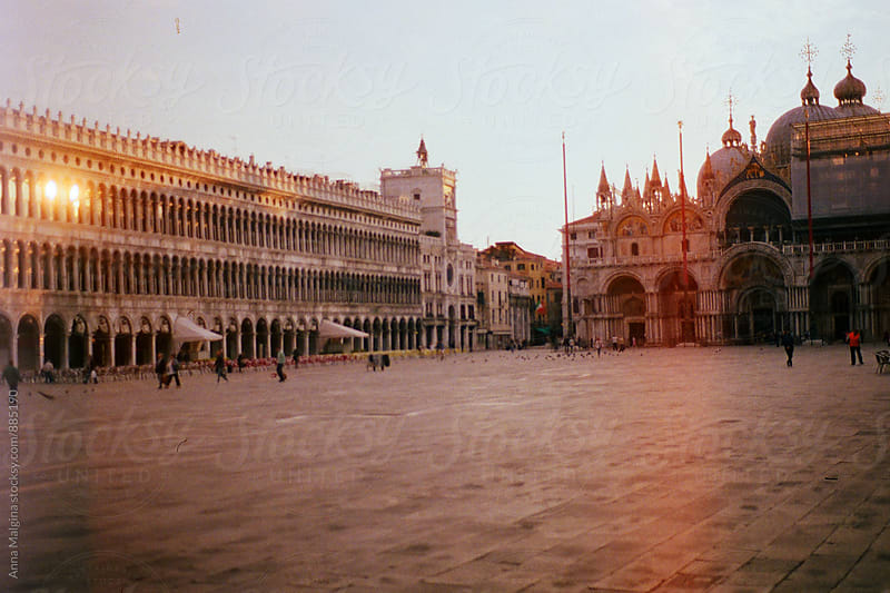 A film photo of San Marco square in Venice by Anna Malgina for Stocksy United