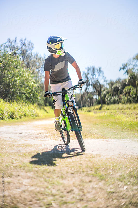 Portrait of Woman Mountain Biker by suzanne clements for Stocksy United
