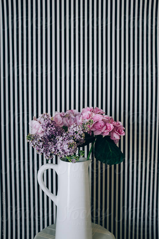 Flowers and Stripes by kelli kim for Stocksy United
