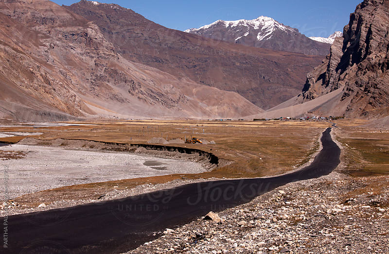 A road in high altitude of Ladakh,India by PARTHA PAL for Stocksy United