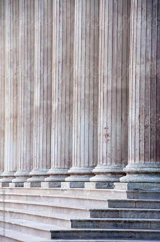 stone columns  by Lee Avison for Stocksy United