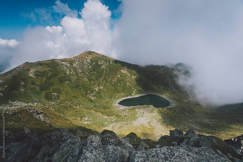Beautiful mountain lake Livadicko. by Dejan Ristovski for Stocksy United