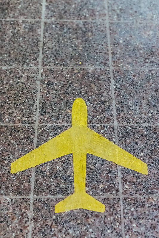 Airport sign on floor by Mauro Grigollo for Stocksy United