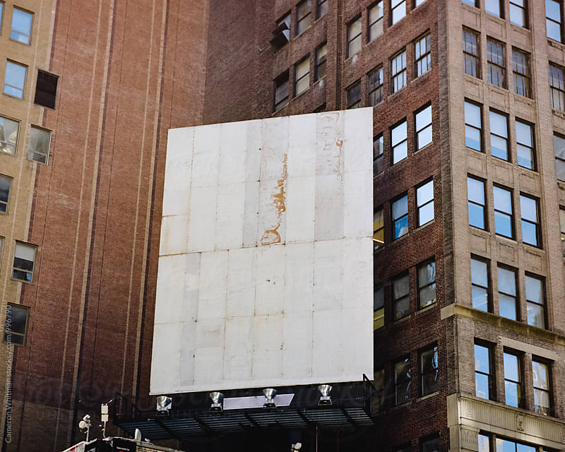 Empty Billboard in NYC by Cameron Whitman for Stocksy United