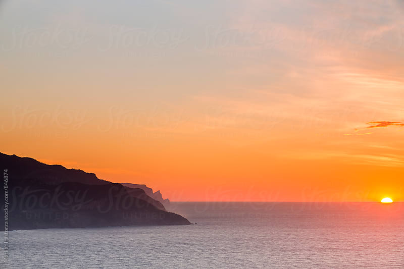 Beautiful sunset on the coast of Majorca by Marilar Irastorza for Stocksy United