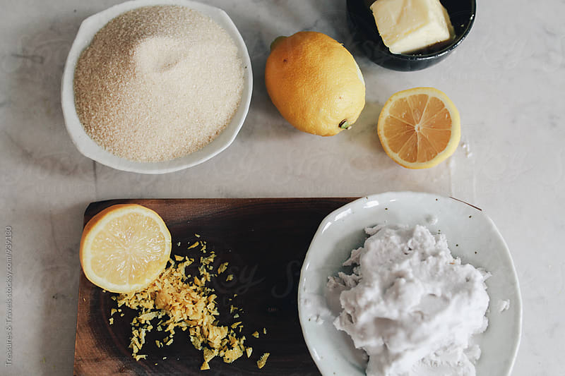 Ingredients for Lemon Crepes by Treasures & Travels for Stocksy United