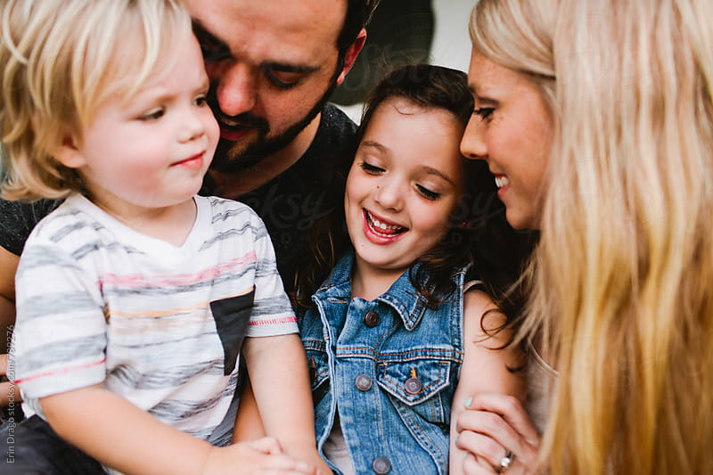 happy family close up by Erin Drago for Stocksy United