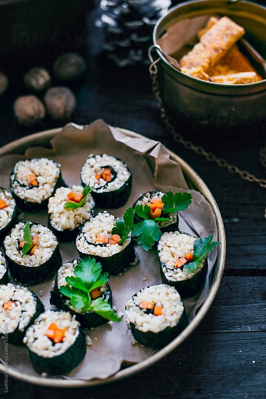 Maki Sushi Rolls by Lumina for Stocksy United