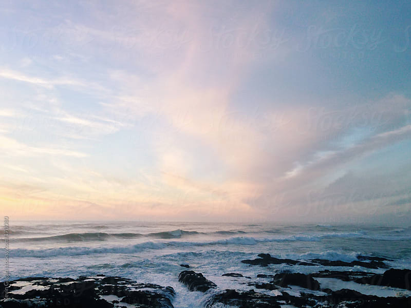 Sunset Over Pacific Ocean by Kevin Gilgan for Stocksy United