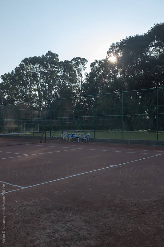 Lonesome Tennis Court by Victor Deschamps for Stocksy United