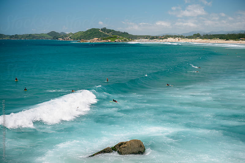 Praia da Ferrugem, a popular surf and tourist destination in Santa Catarina, Brazil by Emmanuel Hidalgo for Stocksy United