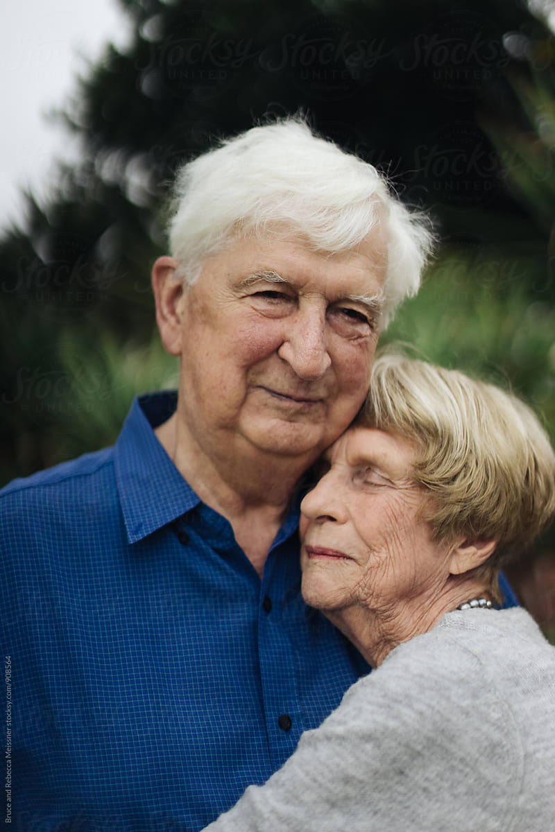 Old Couple In Love by Bruce And Rebecca Meissner