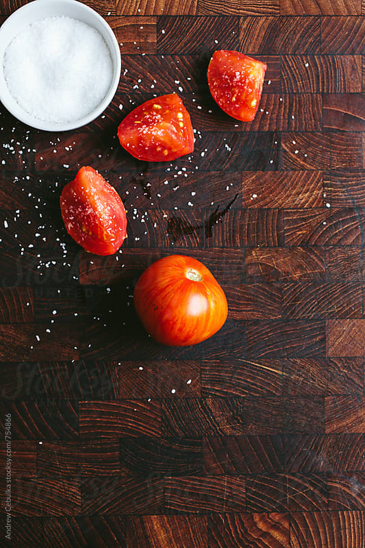 Heirloom Tomatoes by Andrew Cebulka for Stocksy United
