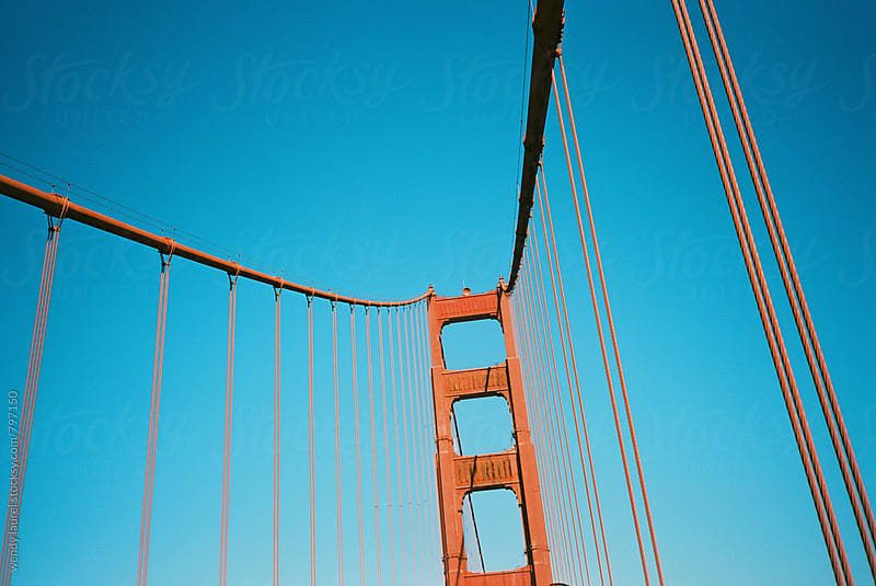 golden gate bridge on blue sky day in san francisco by wendy laurel for Stocksy United